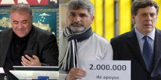 Retratado: Ferreras, 'extasiado' con las firmas de los jubilados mientras se 'mea' en las del padre de Diana Quer