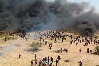Este dron graba los terribles enfrentamientos en la frontera entre Israel y Gaza