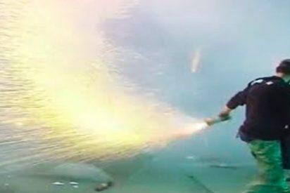 Así es el increíble espectáculo de fuegos artificiales como celebración de la Pascua ortodoxa