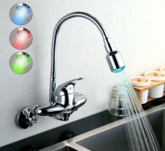 Grifo de Cocina de Agua Caliente y Frío para Fregadero
