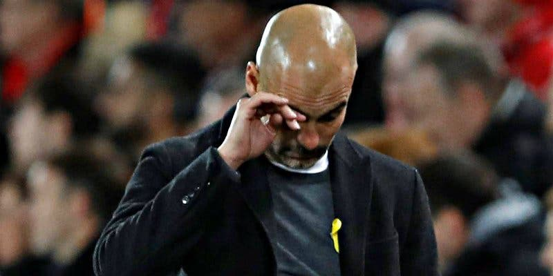 El Liverpool arrolla a Guardiola, que con su lacito amarillo se va a quedar fuera de Champions
