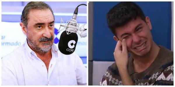 """Carlos Herrera revienta Eurovisión aplastando a Alfred: """"Te falta un hervor"""""""