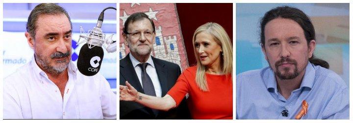 """Carlos Herrera deja temblando a Rajoy con un halago a Iglesias y un soberano palo al PP: """"Es un partido mugriento"""""""