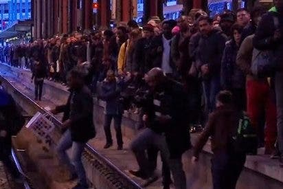 La huelga ferroviaria en Francia deja atrapados a miles de pasajeros