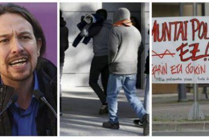 El asco selectivo de Pablo Iglesias: vomita ante 'La Manada', aplaude y apoya a la jauría proetarra de Alsasua