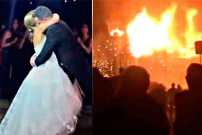 El ardiente fin de boda de una pareja de recién casados