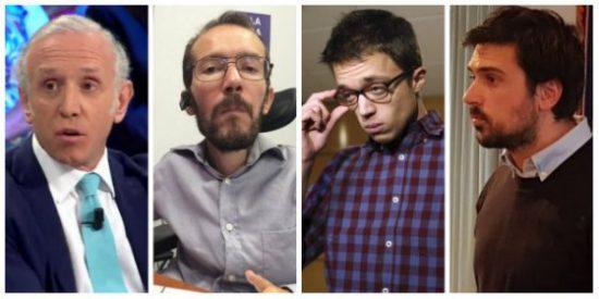 Eduardo Inda dinamita el aquelarre de Atresmedia contra Cifuentes sacando el listado de fraudes podemitas