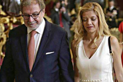 La novia rumana de Juan Luis Cebrián es rubia, diseñadora y 30 años más joven que él