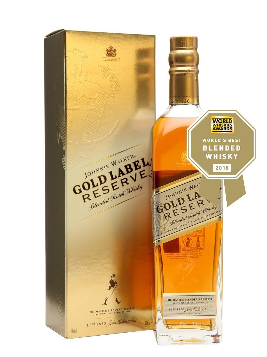 Johnnie Walker Gold Label Reserve, la expresión más festiva de la casa Walker, celebra el mayor reconocimiento que se puede obtener en los World Whiskies Awards 2018 en la categoría 'blended'