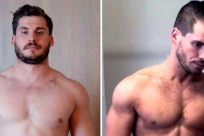 La increible transformación física de un joven en 12 semamas