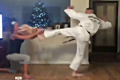 El papelón de ser sufrida esposa de un karateca chulito