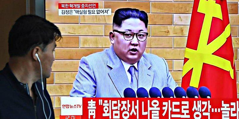 Trump festeja alborazado el anuncio de que Corea del Norte va a detener su programa nuclear