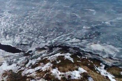 Espectacualres imágenes del lago Ilmen a vista de dron