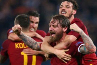 El tuit de la Roma tras eliminar al Barça que nadie entiende