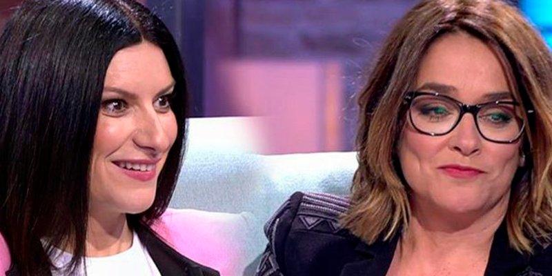 """Laura Pausini """"descubre"""" que a Toñi Moreno le gustan las mujeres"""