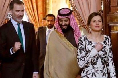 Letizia se hace notar, y mucho, en el almuerzo con el príncipe saudí