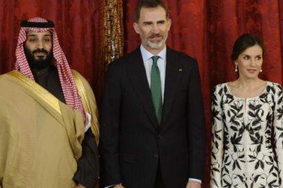 La Reina Letizia rescata su vestido más polémico en la visita del príncipe de Arabia Saudí