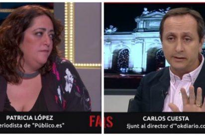 """La """"cloacóloga"""" de Roures enloquece en TV3 ante Carlos Cuesta: """"¡Publicasteis una mierda, sois cloaca! ¡Apestáis!"""""""