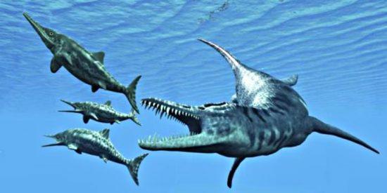 Los paleontólogos descubren restos de una reptil prehistórica embarazada con octillizos