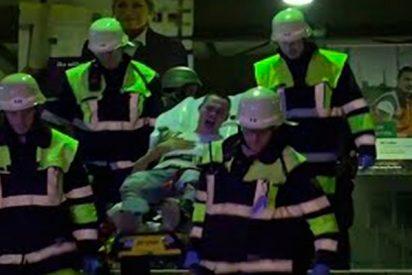 Así son las impresionantes maniobras antiterroristas con realismo extremo en una estación de Múnich