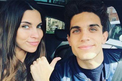 Melissa Jiménez y Marc Bartra presentan a su pequeña Abril