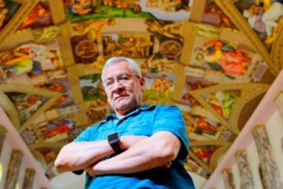 Este jubilado consigue copiar las pinturas de la Capilla Sixtina en la iglesia de su barrio