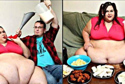 El tarado que ceba a su novia para que sea una modelo de media tonelada