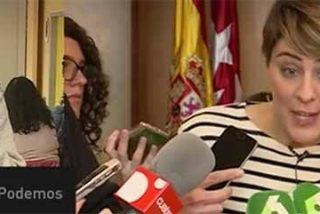 Irene Montero se tiene que morder la lengua para no soltar una barbaridad cuando Ferreras le pone en directo las sorprendentes palabras de Lorena Ruiz-Huerta