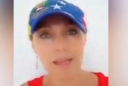 Esta mujer recibe insultos en Colombia por caminar por la calle con una gorra de Venezuela
