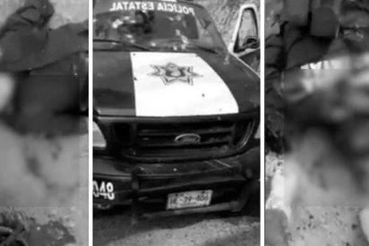 Narcos emboscaron a estos policías en México y grabaron cómo quedaron sus cadáveres