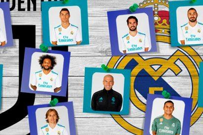 Ponemos notas a los jugadores del partido Juventus-Real Madrid