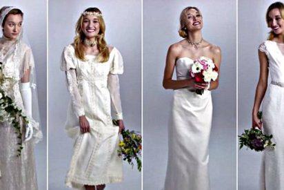 Así han ido cambiando los vestidos de novia en los últimos 100 años