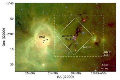 Se descubren 95 nuevos objetos estelares jóvenes a 1.400 años luz