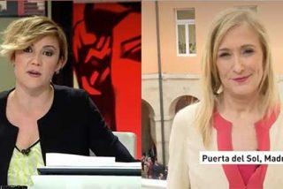 laSexta airea a bombo y platillo la grabación del día que Cristina Pardo le preguntó a Cifuentes en 2016 por su supuesta cleptomanía