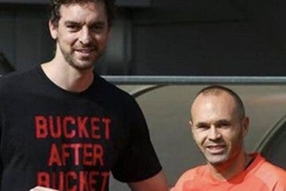 El genial mensaje de Pau Gasol a Andrés Iniesta que lo peta en Instagram