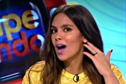 'Zapeando': Cristina Pedroche, 'herida' en directo cuando emulaba al piloto de F1 Fernando Alonso