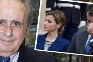Peñafiel afirma que Letizia es agresiva y tiene acojonado al Rey Felipe