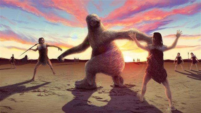 Huellas describen la caza de un perezoso gigante hace 10.000 años