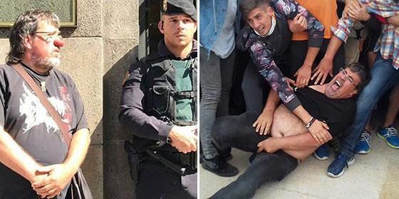 """Los CDR cargan ahora contra los fiscales catalanes en plan payaso al grito de """"¡Nos sobran narices!"""""""