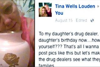 Esta madre manda esta demoledora foto al 'camello' que vendía drogas a su hija