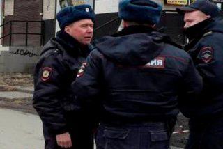 Así detienen a unos presuntos terroristas en San Petesburgo