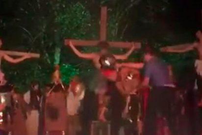 Este valiente le 'salva la vida' a Cristo en la procesión de Viernes Santo