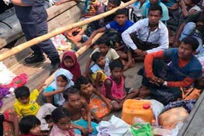 Malasia intercepta un barco con 56 refugiados rohinyás