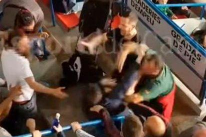 Gritos de «puta España» provocan una feroz pelea en Reus