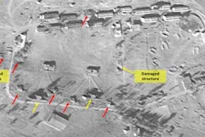 Imágenes de satélite muestran las consecuencias del ataque a Siria