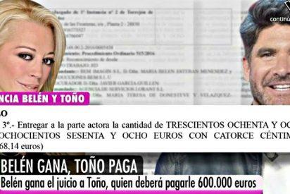 Toño Sanchis condenado definitivamente a pagar a Belén Esteban 600.000 euros