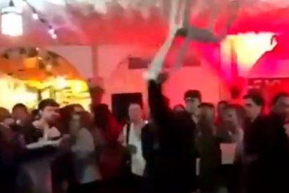 Bronca brutal a 'sillazo limpio' en la caseta de CCOO en la Feria de Abril de Sevilla