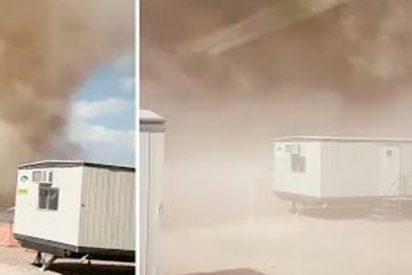 Así fue el monstruoso tornado de polvo que azotó el estado mexicano de San Luis Potosí