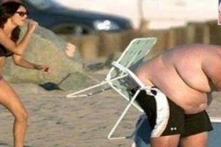 Dura penitencia por hacerse el 'tarzán' en la playa