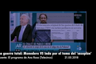 La guerra total: Inda y Monedero se ven las caras para hablar del casoplón de Irene Montero y Pablo Iglesias